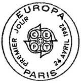 Oblitération 1er jour à Paris et Strasbourg le 24 avril 1982