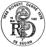 Oblitération 1er jour à Sedan et Paris le 15 mai 1982