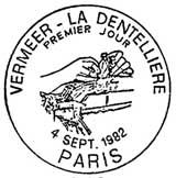 Oblitération 1er jour à Paris le 4 septembre 1982