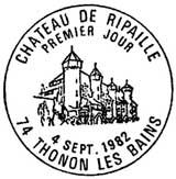 Oblitération 1er jour à Thonon-les-Bains le 4 septembre 1982