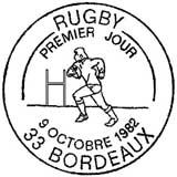Oblitération 1er jour à Bordeaux le 9 octobre 1982