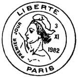 Oblitération 1er jour à Paris le 3 novembre 1982