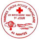 Oblitération 1er jour à Nantes le 20 novembre 1982