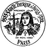 Oblitération 1er jour à Paris le 20 novembre 1982