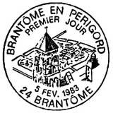 Oblitération 1er jour à Brantôme le 5 février 1983