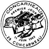 Oblitération 1er jour à Comcarneau le 11 juin 1983