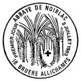 Oblitération 1er jour à Bruère-Allichamps le 2 juillet 1983