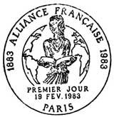 Oblitération 1er jour à Paris le 19 février 1983