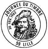 Oblitération 1er jour à Paris le 26 février 1983