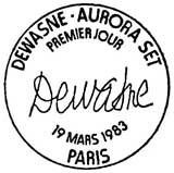 Oblitération 1er jour à Paris le 19 mars 1983