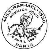 Oblitération 1er jour à Paris le 9 avril 1983