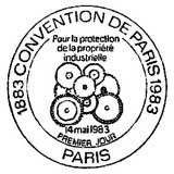 Oblitération 1er jour à Paris le 14 mai 1983