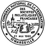 Oblitération 1er jour à Marseille le 21 mai 1983
