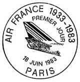 Oblitération 1er jour à Paris le 18 juin 1983
