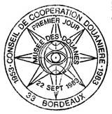 Oblitération 1er jour à Bordeaux le 22 septembre 1983