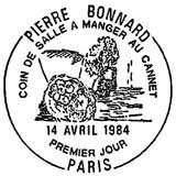 Oblitération 1er jour à Paris le 14 avril 1984