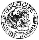 Oblitération 1er jour à Pointe-à-Pitre le 25 février 1984