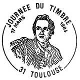 Oblitération 1er jour à Paris le 17 mars 1984