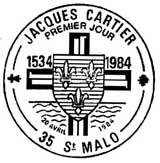 Oblitération 1er jour à Saint-Malo le 20 avril1984