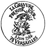 Oblitération 1er jour à Versailles le 8 juin 1984
