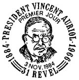 Oblitération 1er jour à Revel le 3 novembre 1984