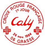 Oblitération 1er jour à Grasse le 24 novembre 1984