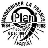 Oblitération 1er jour à Paris le 8 décembre 1984