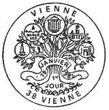 Oblitération 1er jour à Vienne le 19 janvier 1985