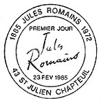 Oblitération 1er jour à Saint Jullien-Chapteuil le 23 février 1985