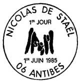 Oblitération 1er jour à Antibes le 1 juin 1985