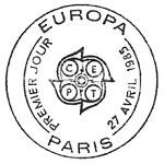 Oblitération 1er jour à Paris le 27 avril 1985
