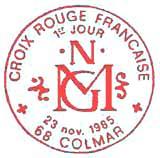 Oblitération 1er jour à Colmar le 16 novembre 1985
