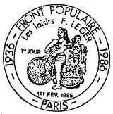 Oblitération 1er jour à Paris le 1 février 1986