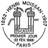 Oblitération 1er jour à Paris le 22 février 1986