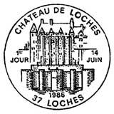 Oblitération 1er jour à Loches le 14 juin 1986