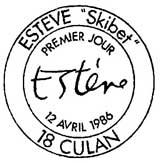 Oblitération 1er jour à Estève et Culan le 12 avril 1986
