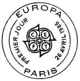 Oblitération 1er jour à Paris et Strasbourg le 26 avril 1986