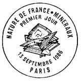 Oblitération 1er jour à Paris le 13 septembre 1986