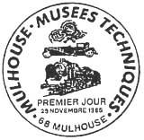 Oblitération 1er jour à Mulhouse le 22 novembre 1986