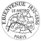 Oblitération 1er jour à Paris et Uzel près l'Oust le 17 janvier 1987