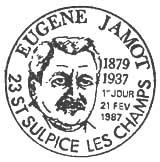 Oblitération 1er jour à Saint Sulpice les champs le 21 février 1987