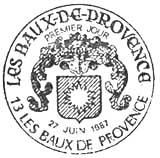 Oblitération 1er jour à Baux de Provence le 27 juin 1987