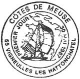 Oblitération 1er jour à Vigneulles les Hattonchatel  le 30 mai 1987
