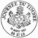 Oblitération 1er jour à Paris le 14 mars 1987