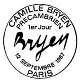 Oblitération 1er jour à Paris le 12 septembre 1987