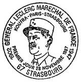 Oblitération 1er jour à Paris le 28 novembre 1987