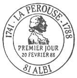 Oblitération 1er jour à Albi le 20 février 1988