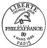 Oblitération 1er jour à Metz et Paris le 4 mars 1988