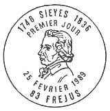Oblitération 1er jour à Fréjus le 25 février 1989