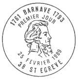 Oblitération 1er jour à Saint Egreve le 25 février 1989
